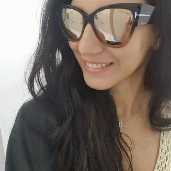 e8fa2889e16 Tom Ford TF 371 Anoushka Mirror Sunglasses Cateye.  M 5b97dda5619745a36056977d